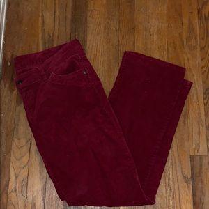 Burgundy corduroy pants size 15/16r